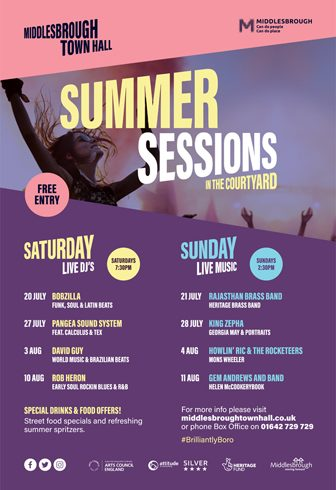 Summer Sessions in M'boro Town Hall Courtyard